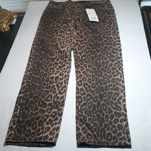 Zara trf collection leopard print jeans